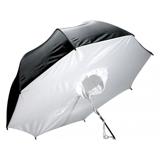 """UB-010 33"""" 84cm Beyaz/Siyah Box Şemsiye"""