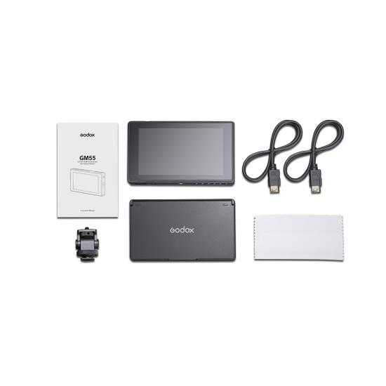 "Godox GM55 5.5"" 4K HDMI Kamera Üstü Dokunmatik Monitör"