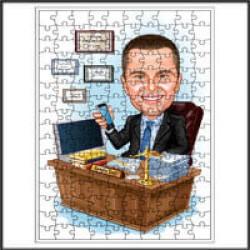 Karikatür Ahşap Puzzle