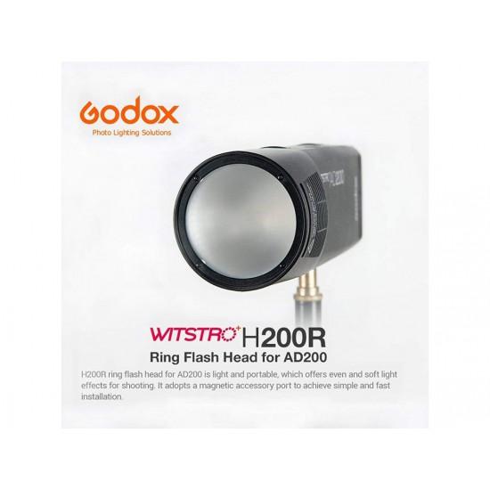 Godox H200R - AD200 İçin Yuvarlak Soft Flaş Kafası