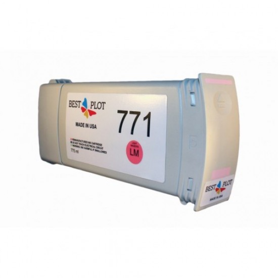 Best Plot HP771 Light Magenta (Açık Eflatun) 775ml Muadil Mürekkep Kartuşu