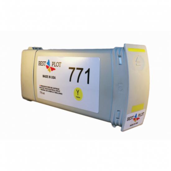 Best Plot HP771 Yellow (Sarı) 775ml Muadil Mürekkep Kartuşu