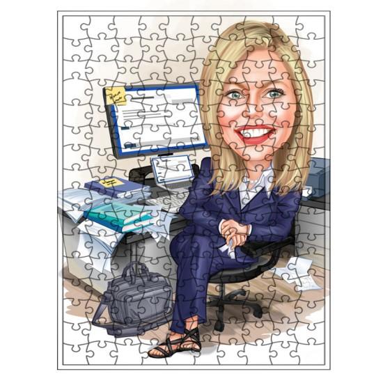 Tek bayan Puzzle 1000 parça