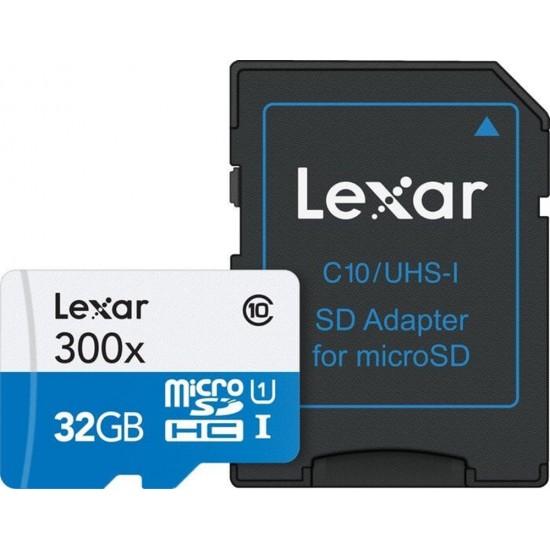 Lexar 32GB MICROSDHC 300X (Class 10) U1