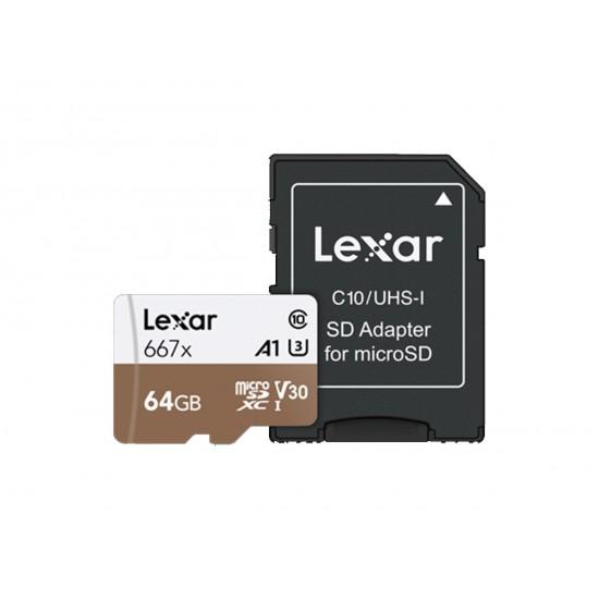 Lexar 64GB Pro 667X microSDXC UHS-I A2 (V30)