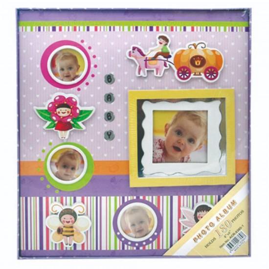 10x15cm 180 li pembe bebek albümü-2