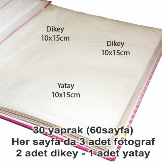 10x15cm 180'li pembe bebek albümü-3