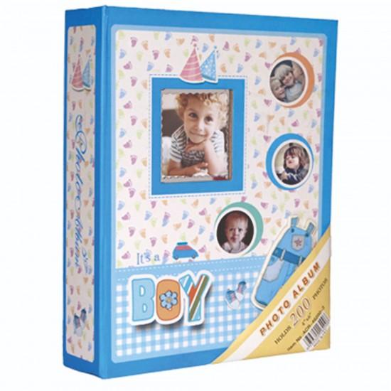 10x15cm 200 lü mavi bebek albümü-2