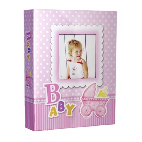 10x15cm 200 lü pembe bebek albümü-3