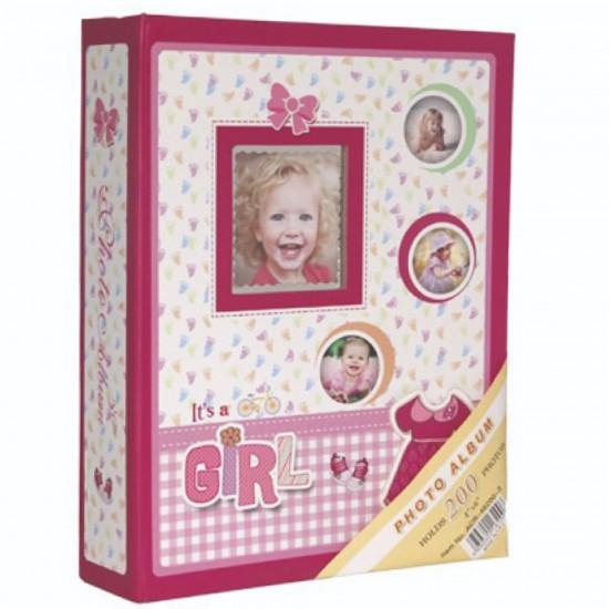 10x15cm 200 lü pembe bebek albümü-4