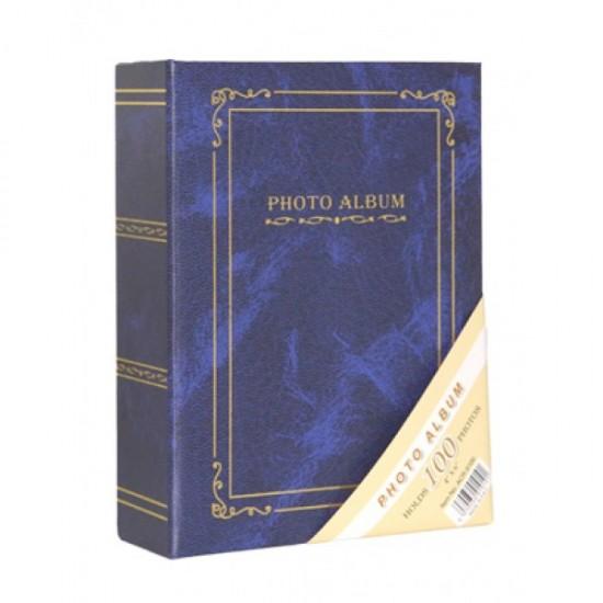 10x15 100 lü ciltbezli mavi albüm