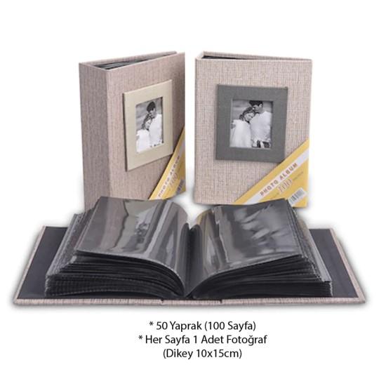 15x20cm 100'lü Koton Fotoğraf Albümü