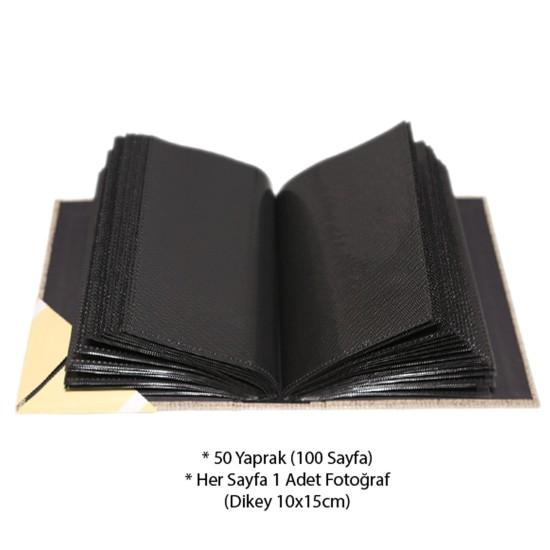 10x15cm 100'lü Koton Fotoğraf Albümü