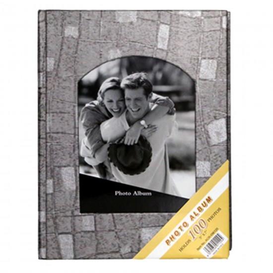 100'lü 13x18cm Fotoğraf Albümü gri