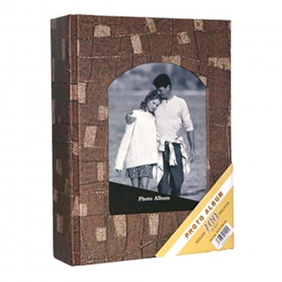 100'lü 13x18cm Fotoğraf Albümü kahve