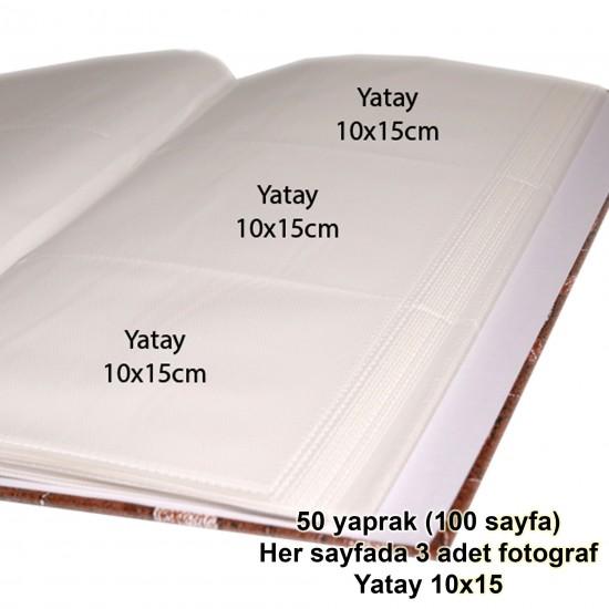 10x15cm 300'lü Fotoğraf Albümü kahve