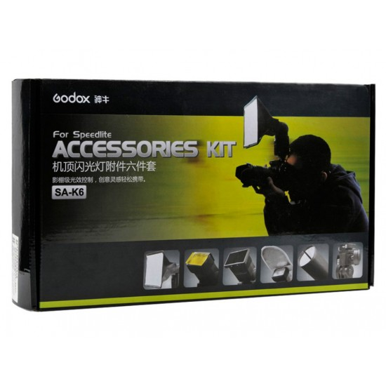 Godox SA-K6 Tepe Flaş Aksesuar Kit