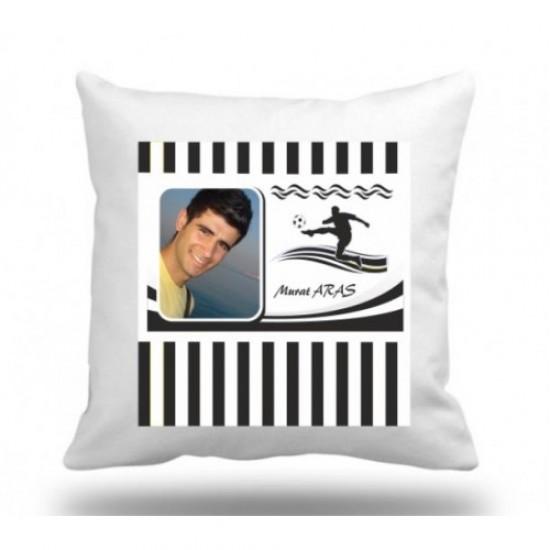 Kare beyaz yastık